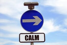 Calm direction sign