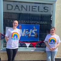 https://www.facebook.com/DanielsCafeWells/ picture of @danielscafewells owners as an example of how to @worksafeandwell