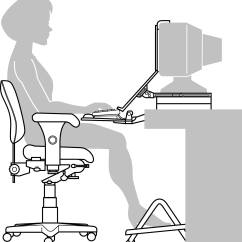 Ergonomic Chair Settings White Wood Counter Height Chairs Setting Up Your Computer Worksrtation Worksafe Notes