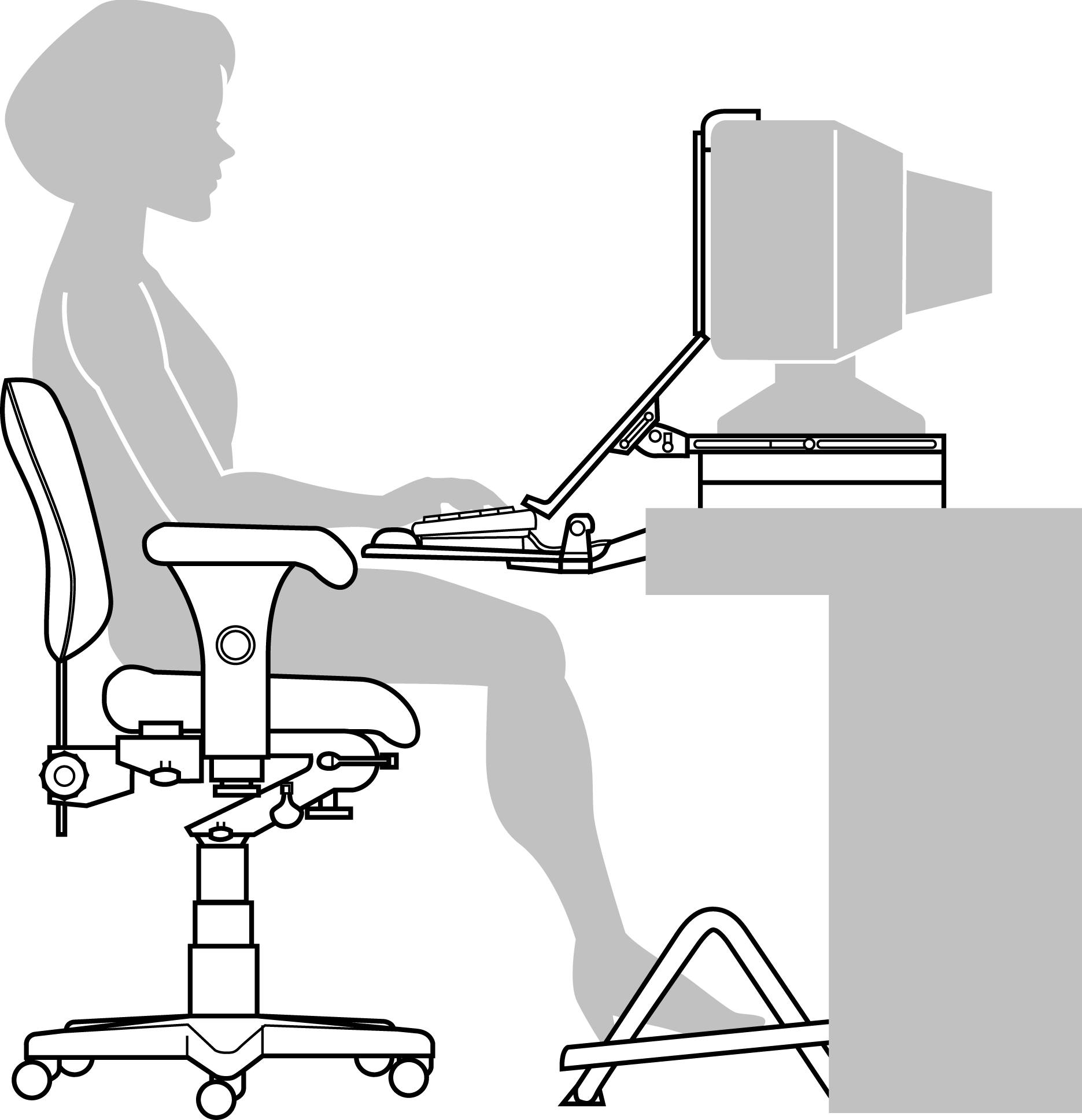 ergonomic chair desk and computer setup low back beach setting up your worksrtation worksafe notes