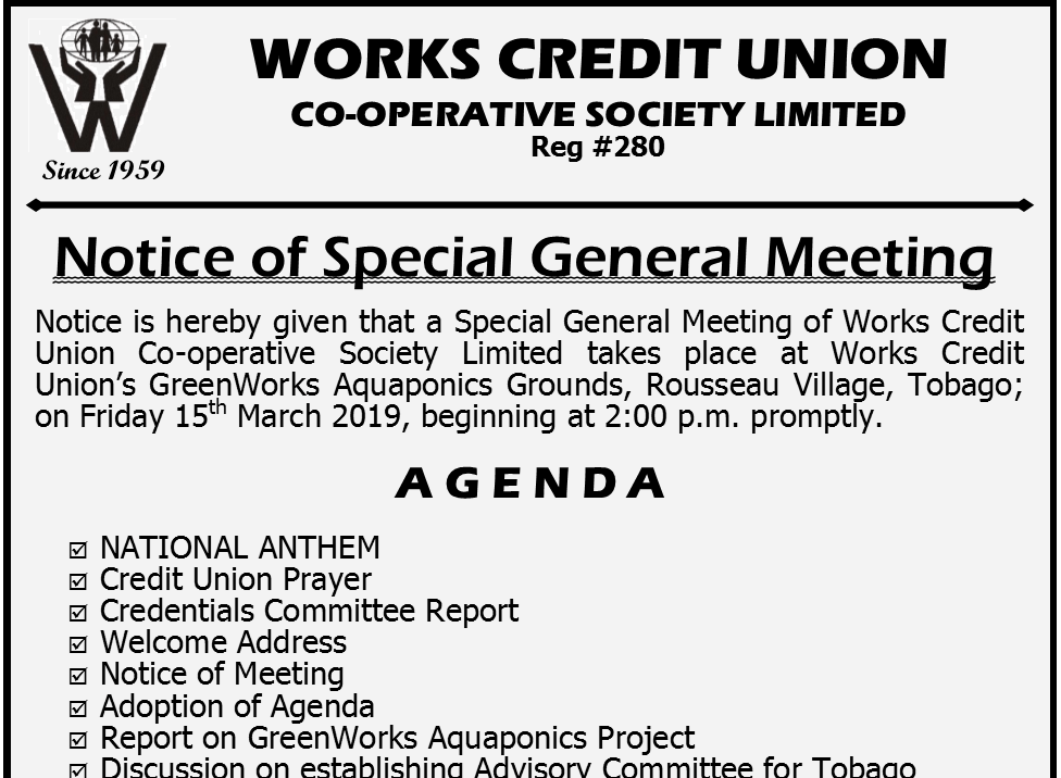 Special General Meeting 2019