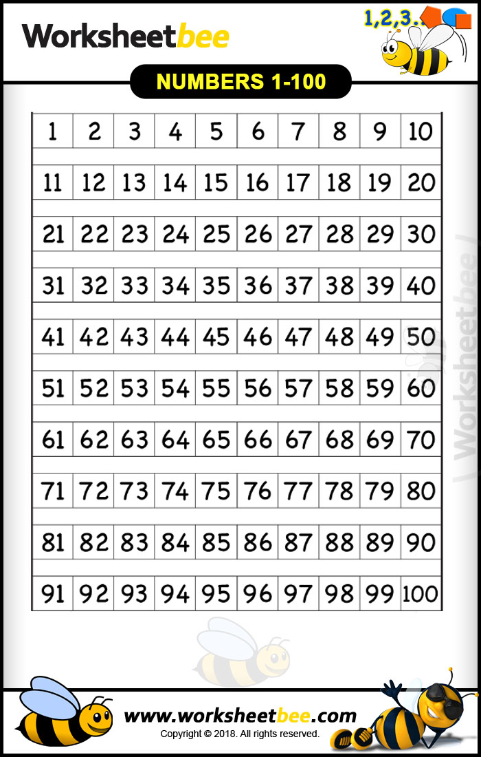 graphic relating to Numbers 1-100 Printable named Printable Sq. Packing containers Design Worksheet for Children Towards Figures