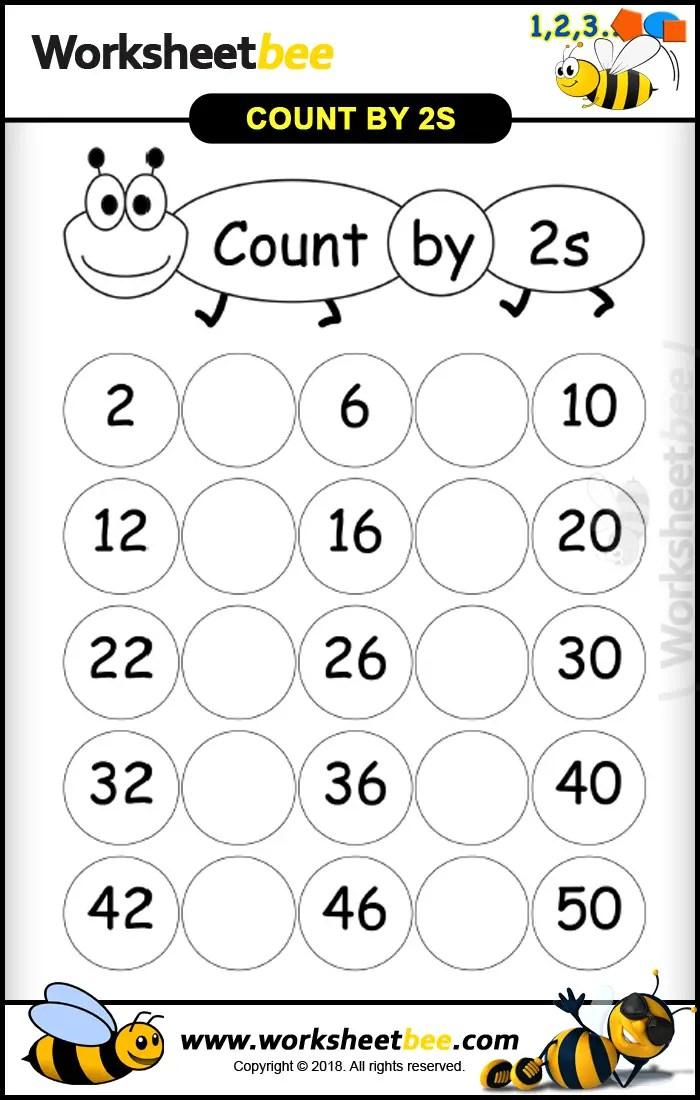 nice printable worksheet for kids count by 2s worksheet bee. Black Bedroom Furniture Sets. Home Design Ideas