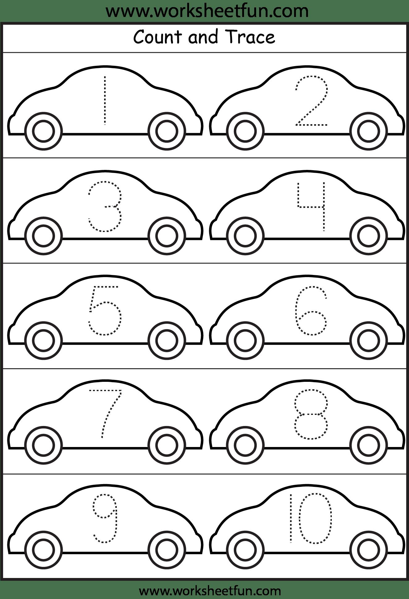 Number Tracing 4 Worksheets Free Printable Worksheets Worksheetfun