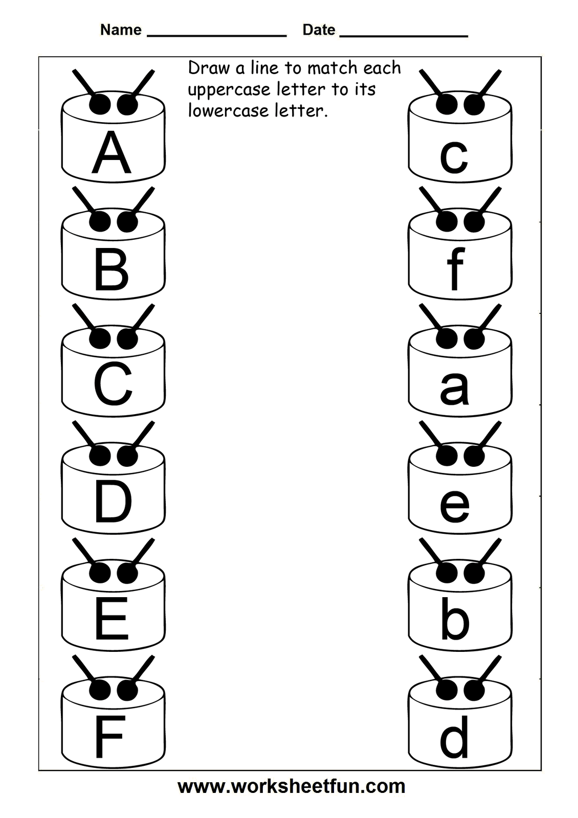 Match Uppercase And Lowercase Letters  11 Worksheets  Free Printable Worksheets  Worksheetfun