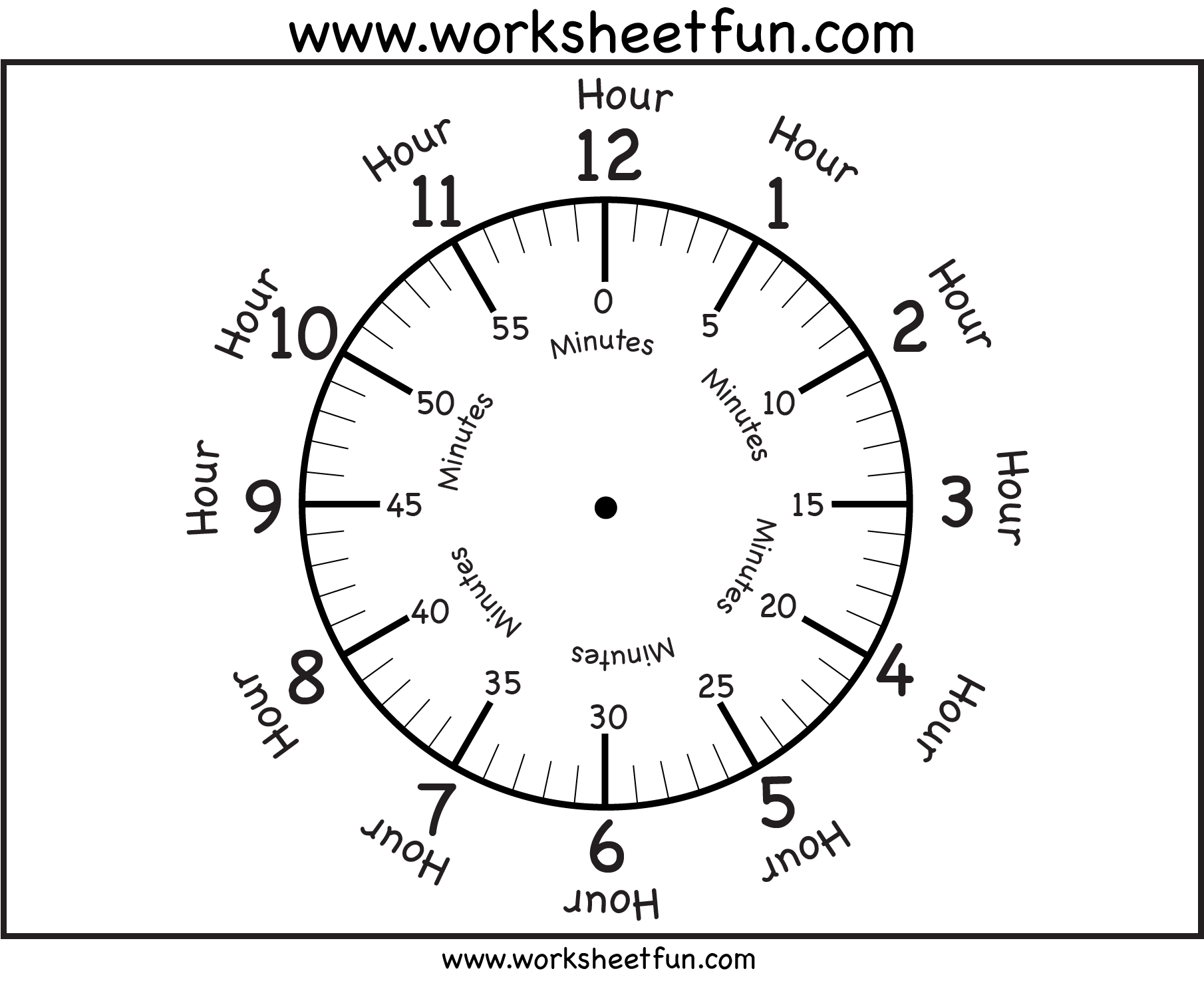 Time – Printable Clock Face