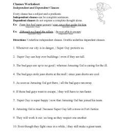 Phrases And Clauses Worksheet   Printable Worksheets and Activities for  Teachers [ 1496 x 1156 Pixel ]
