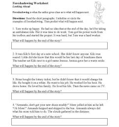Foreshadow And Flashback Worksheet   Printable Worksheets and Activities  for Teachers [ 1441 x 1114 Pixel ]