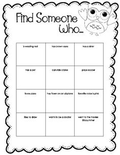 13 Best Images Of Find Someone Who Worksheets Math Activity  Find Someone Who Icebreaker Bingo