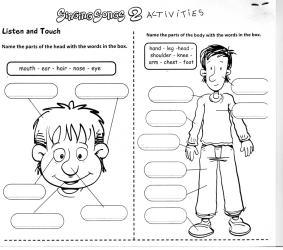 worksheet body parts printable spanish worksheets print esl science number children primaria clothes evaluacion 2o learning via
