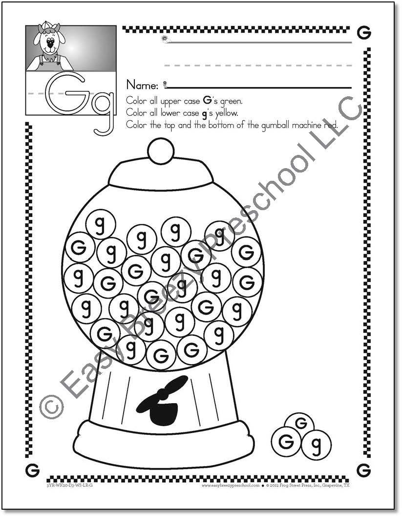 13 Best Images Of Printable Preschool Worksheets Concepts  Preschool Letter Recognition