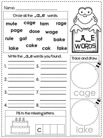 18 Best Images Of Cvce Words Worksheet  Magic E Words Worksheets, The Word Kindergarten