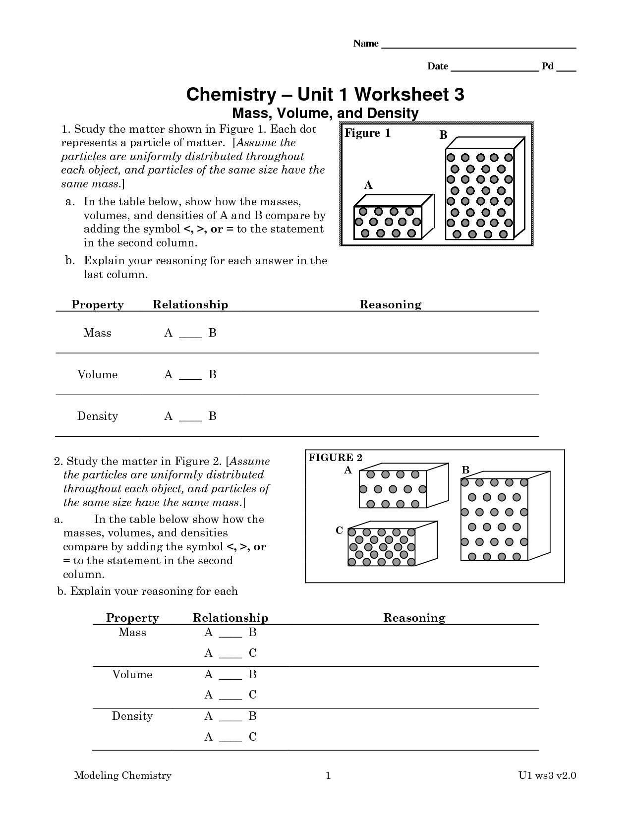 9 Best Images Of Chemistry Worksheet Matter 1 Answer Key  Chemistry Worksheets With Answer Key