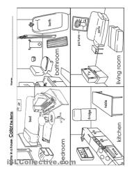 rooms room worksheet coloring living worksheets pages preschool kindergarten printable worksheeto soft category via