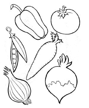 vegetables coloring fruits pages drawing fruit vegetable printable veggies worksheet colouring cornucopia drawings perfect kinds six activities types template getcolorings