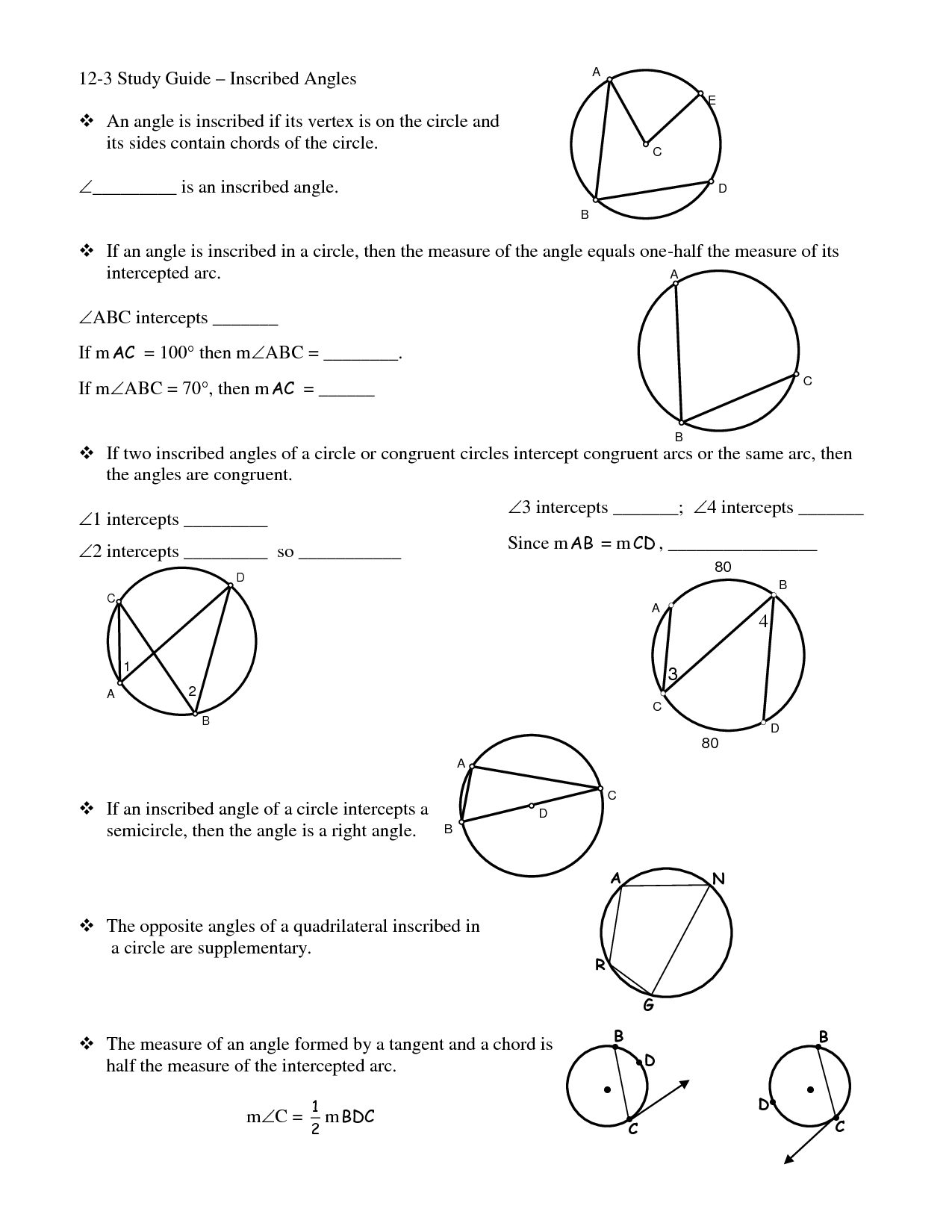 12 Best Images Of Circle Arcs And Angles Worksheets  Geometry Circle Worksheets, Central And
