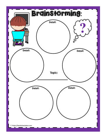 Brainstorming Graphic Organizer Worksheets
