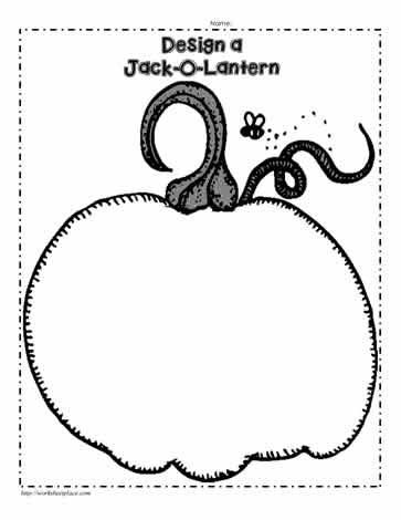 Jack-O-Lantern Outline Design Your Own Worksheets