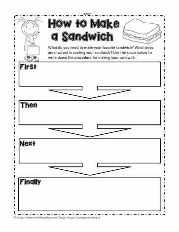 Procedure Text How To Make Sandwich : procedure, sandwich, Sandwich, Worksheets