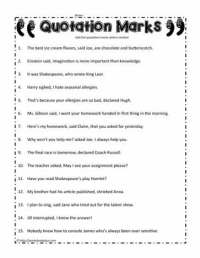 All Worksheets  Quotation Mark Worksheets - Printable ...