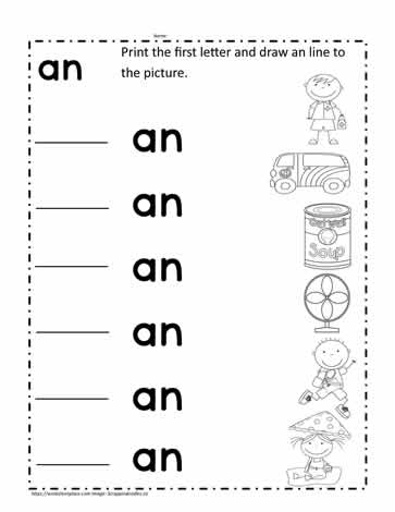 an Word Family Worksheet Worksheets