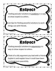 Respect Worksheets