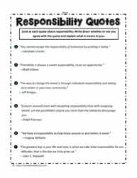 Taking Responsibility For Your Actions Worksheet : taking, responsibility, actions, worksheet, Responsibility, Worksheets