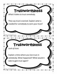 Trustworthiness Worksheets