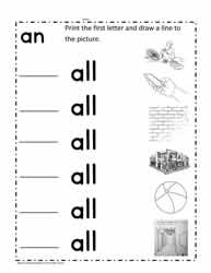 all Word Family Worksheets