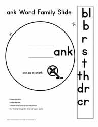 ank Word Family Worksheets