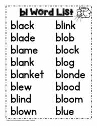 bl Blend Activities Worksheets