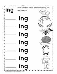 Ing Word Family Worksheets