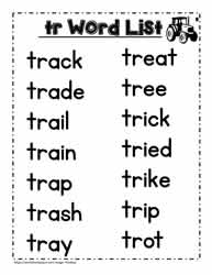 tr Blend Activities Worksheets