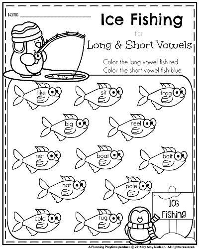 Vowels Worksheets For 1st