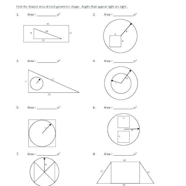 High School Geometry Practice Worksheets