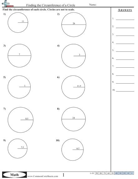6th- Grade Perimeter Worksheets
