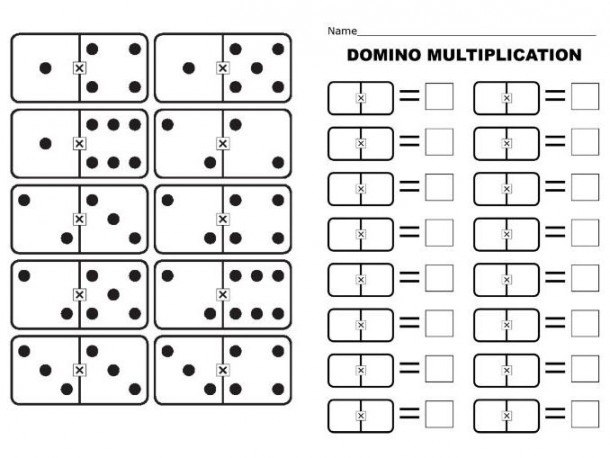 Multiply Worksheets Domino