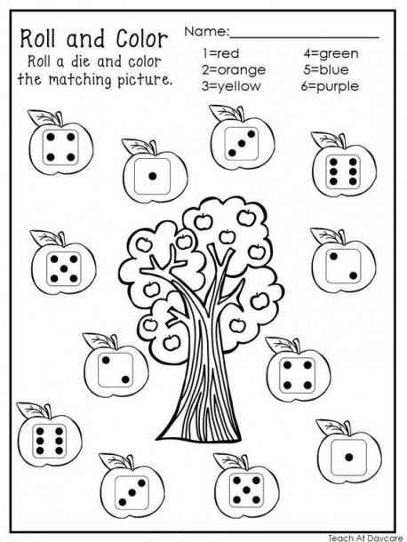 Kindergarten Number Worksheets 1- 6