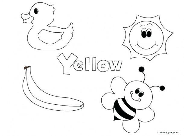 Color Yellow Worksheets For Kindergarten