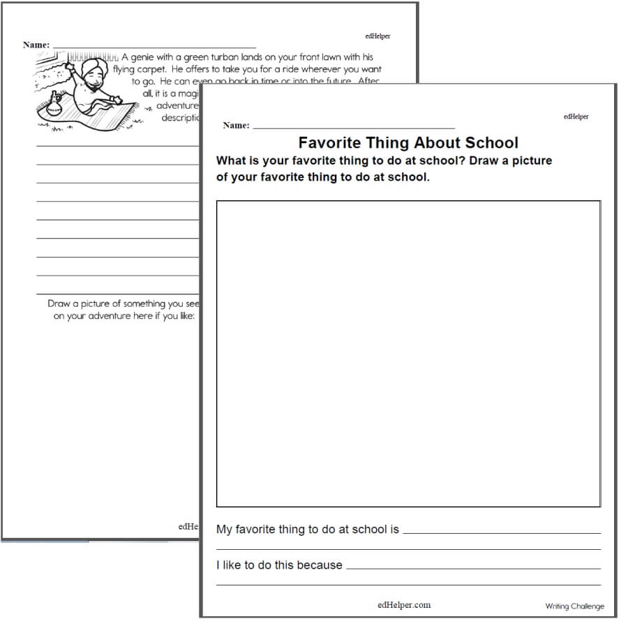 medium resolution of Writing Worksheets for Creative Kids   Free PDF Printables   edHelper.com