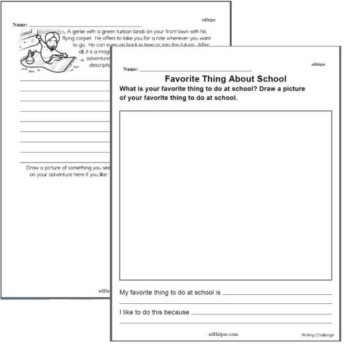small resolution of Writing Worksheets for Creative Kids   Free PDF Printables   edHelper.com