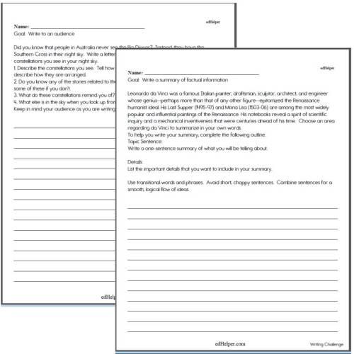 small resolution of Writing Worksheets for Creative Kids   Free PDF Printables   edHelper.com