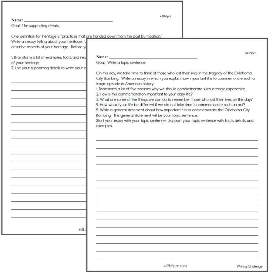 hight resolution of Writing Worksheets for Creative Kids   Free PDF Printables   edHelper.com