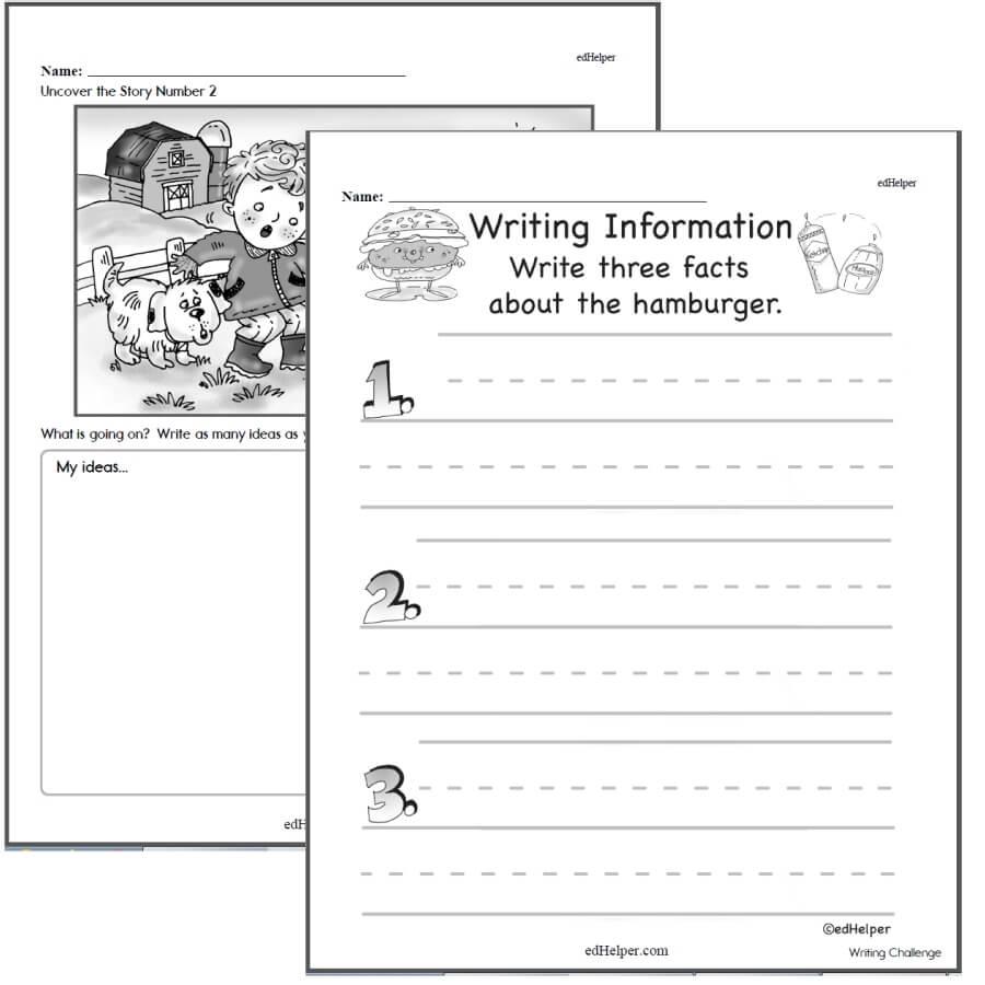 medium resolution of Writing Worksheets for Creative Kids   Free PDF Printables   edHelper.com