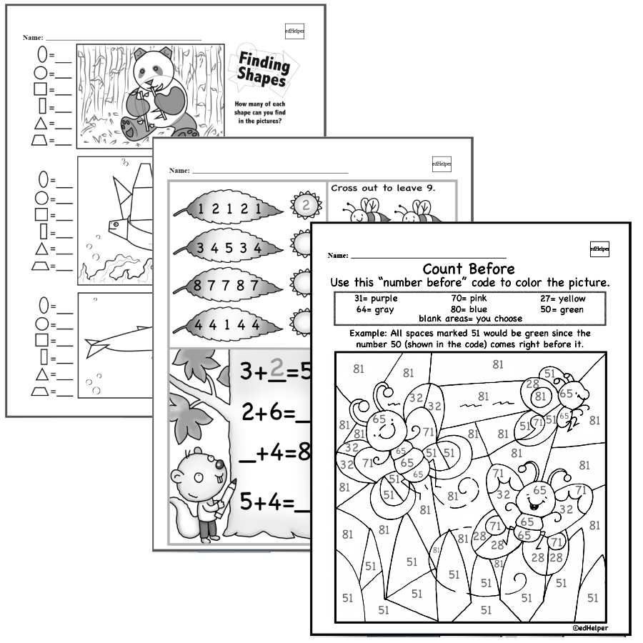medium resolution of Kindergarten Math Worksheets - Free Printable Math PDFs   edHelper.com