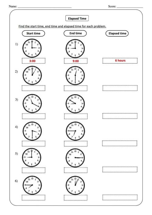 small resolution of Telling Time Worksheets - O'clock And Half Past on Worksheets Ideas 3073