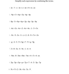 9 Best Algebraic Expressions Worksheets images on Worksheets Ideas [ 1584 x 1224 Pixel ]