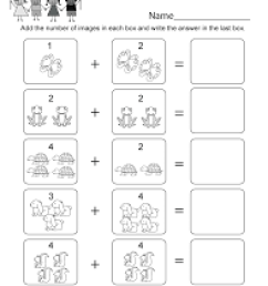23 Best Kindergarten Simple Addition Math Worksheets images on Worksheets  Ideas [ 1035 x 800 Pixel ]