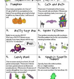 21 Best Halloween Math Worksheets Grade 5 images on Worksheets Ideas [ 1058 x 793 Pixel ]
