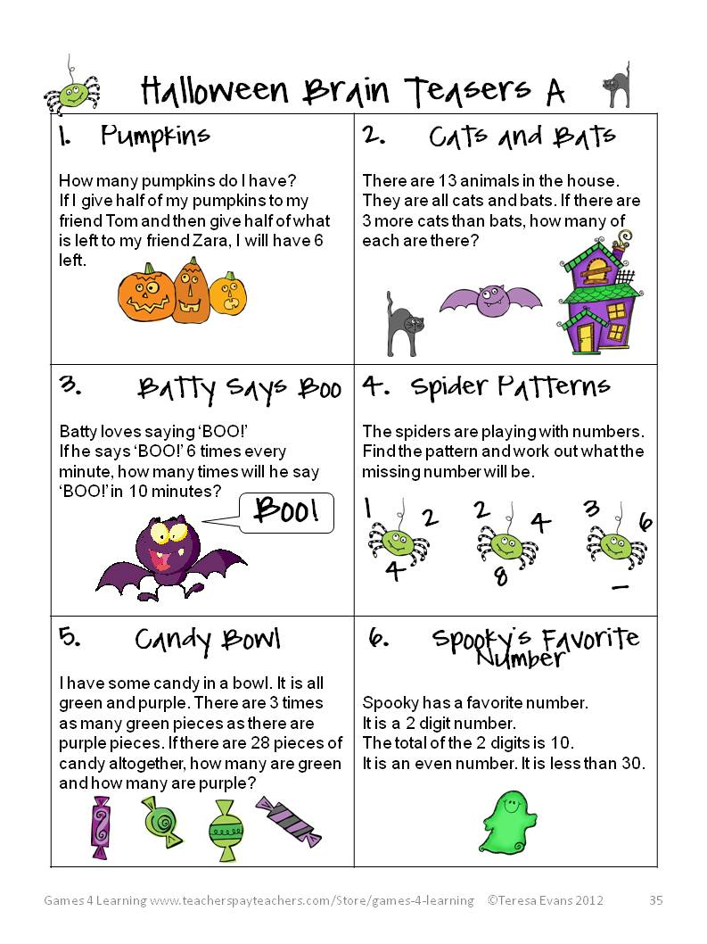 medium resolution of 21 Best Halloween Math Worksheets Grade 5 images on Worksheets Ideas